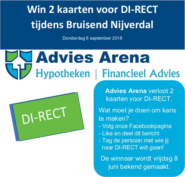 Win 2 kaarten voor DI-RECT
